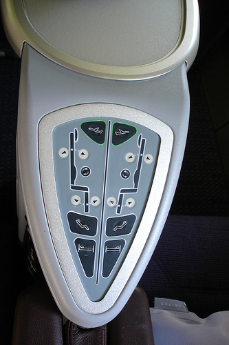 At last! Simple, large buttons for moving the chair to each position automatically. (photo by thezipper)